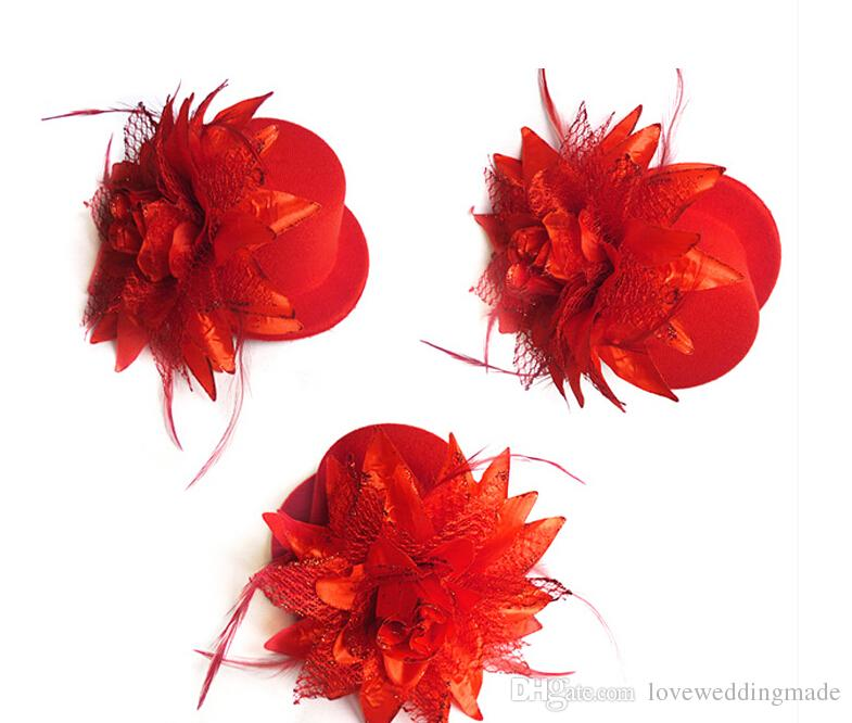 Cheapest!!! Kentucky Derby, Fascinator Hats, Small Cup Headpieces Hair Wedding Party Bride Hats With Flowers 2019-2020