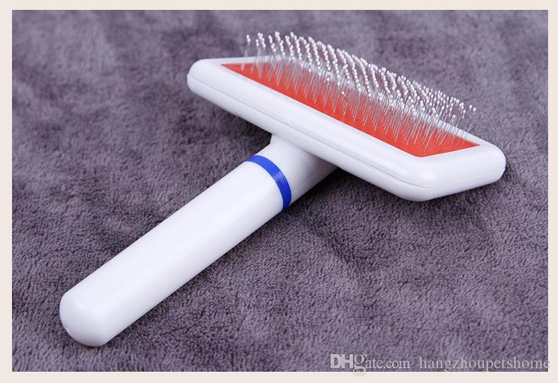 New Arrival Dog Combs White Color Plastic Handle And Stainless Steel Needle Big Dog Can Use Clean Hair