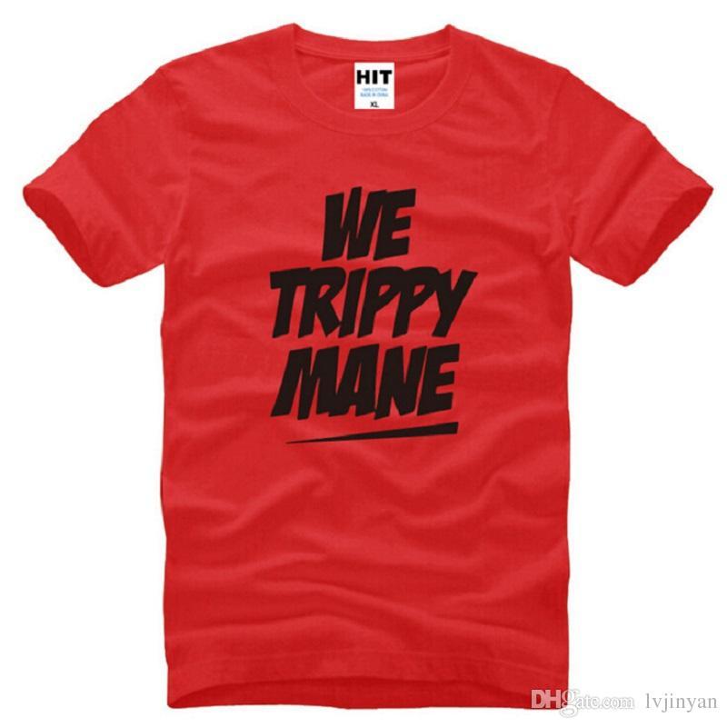 Nuevo Rap Drake Camisetas Hombre Algodón Manga corta WE TRIPPY MANE Drake Camiseta hombre Summer Style Hombre Música Hip Hop Tops Tees