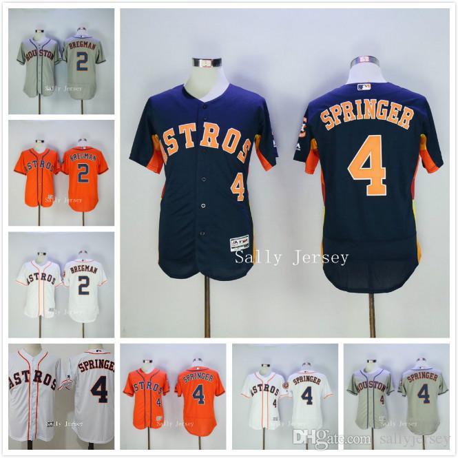 ... wholesale men houston astros cool base 2 alex bregman 4 george springer  baseball jersey 100 stitched aeff4fe89