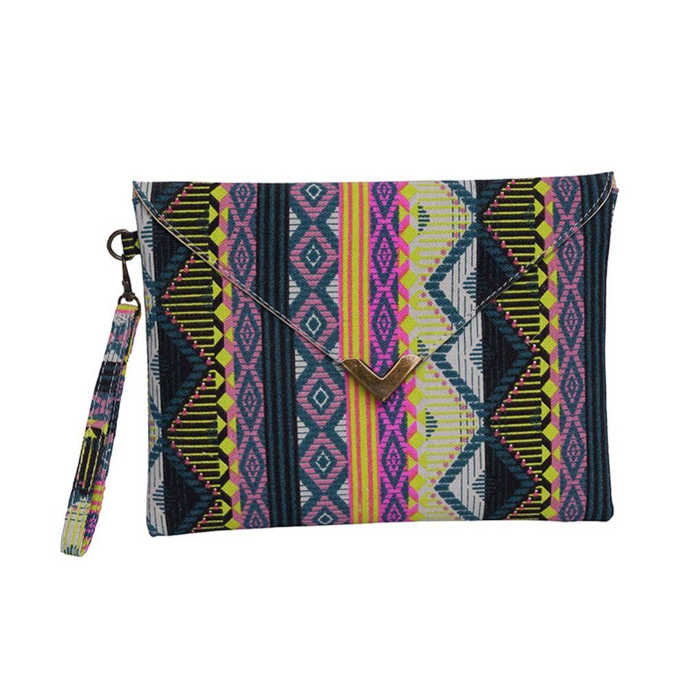Wholesale-Fashion Women Envelope Clutch Handbag Purses Canvas Tote ... 878cfaf21842