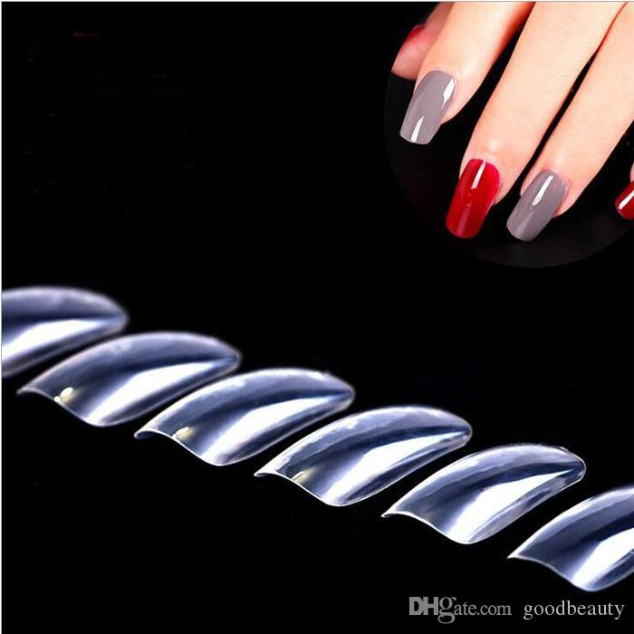 Nail Tips Natural French Acrylic Artificial False Nails Nail Art ...