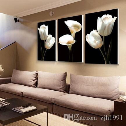 No border 3 plate paint pictures without borders of oil in Europe painting of canvas wall art no framework