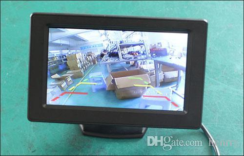 Macchina fotografica di retrovisore dell'automobile Sistema di assistenza di parcheggio intelligente PZ601C 4.3 pollici 16: 9 Digital Camera Pixal 648 * 488 DHL libero