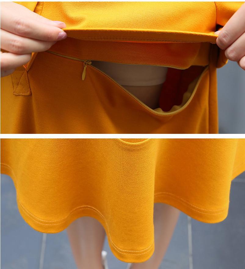 Revers Femme Manches Longues Casual Allaitement Lâche Maternité Vêtements Femme Enceinte Taille M L XL DXW145