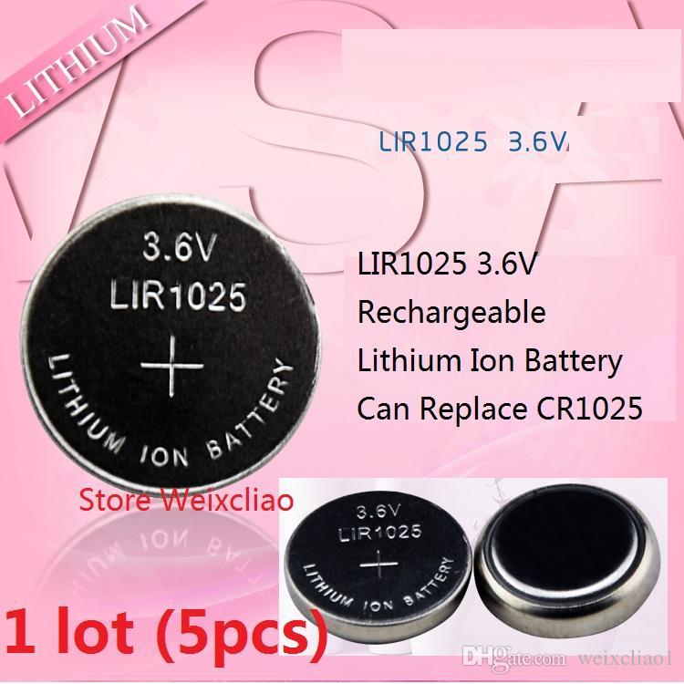 1 LIR1025 3.6V Lithium li ion rechargeable pile bouton 1025 3.6 volts li-ion piles de la pièce remplacer CR1025 livraison gratuite