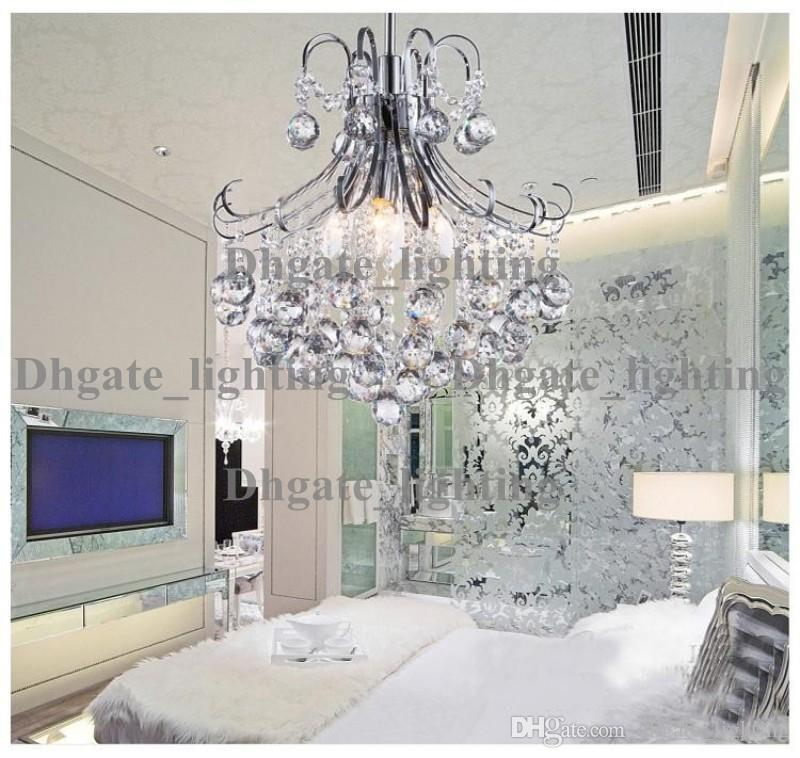 Top quality mini modern crystal chandelier light chrome crystal top quality mini modern crystal chandelier light chrome crystal chandelier light lighting guaranteed 100 sphere chandelier rectangle chandelier from aloadofball Image collections