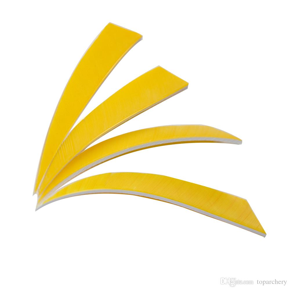 5'' Left Wing Feathers for Glass Fiber Bamboo Wood Archery Arrows Hunting and Shooting Shield Yellow Fletching
