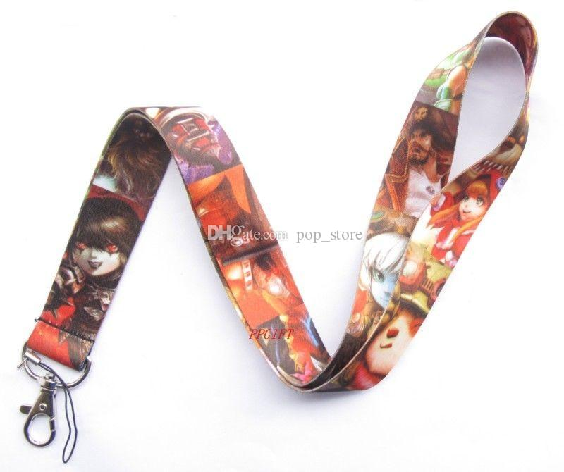 Envío gratis al por mayor al por menor -League of Legends LOL Lanyard Strap Mobile Phone ID Card llavero
