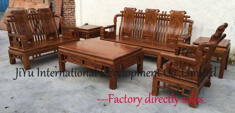 Han Dynasty King Sofa Sets 123 Six Pieces Wood Furniture Living Room