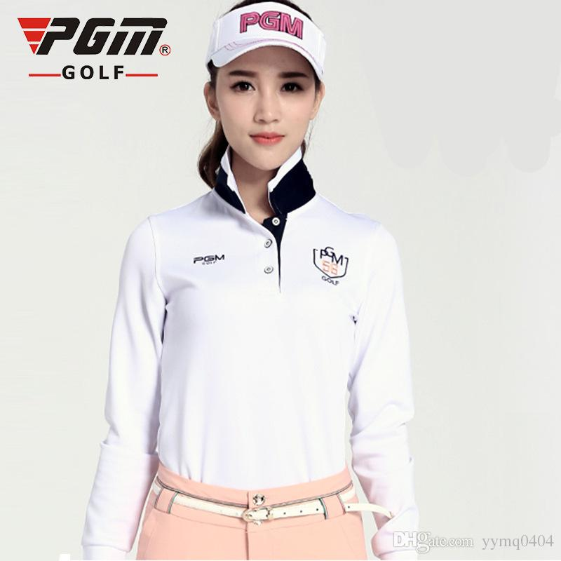 2019 2017 new womens golf polo shirts fashion long sleeve