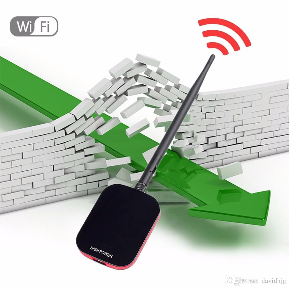 Nouveau haut pouvoir / vitesse N9000 Internet gratuit Adaptateur USB sans fil WiFi longue portée 150Mbps + récepteur Wi fi Antenne Récepteur Wi-fi Vente chaude !!