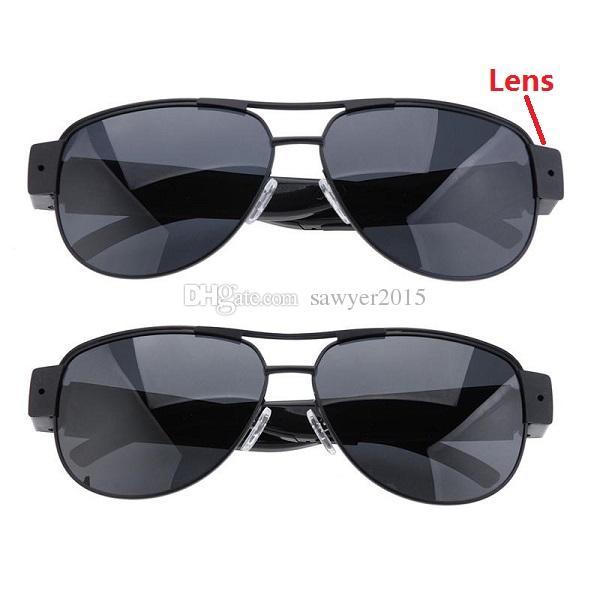 نظارات شمسية كاميرا HD 1920x1080P AVI فيديو 30FPS سوبر ميني DVR سليم نظارات كاميرا كاميرا محمولة مع مربع التجزئة