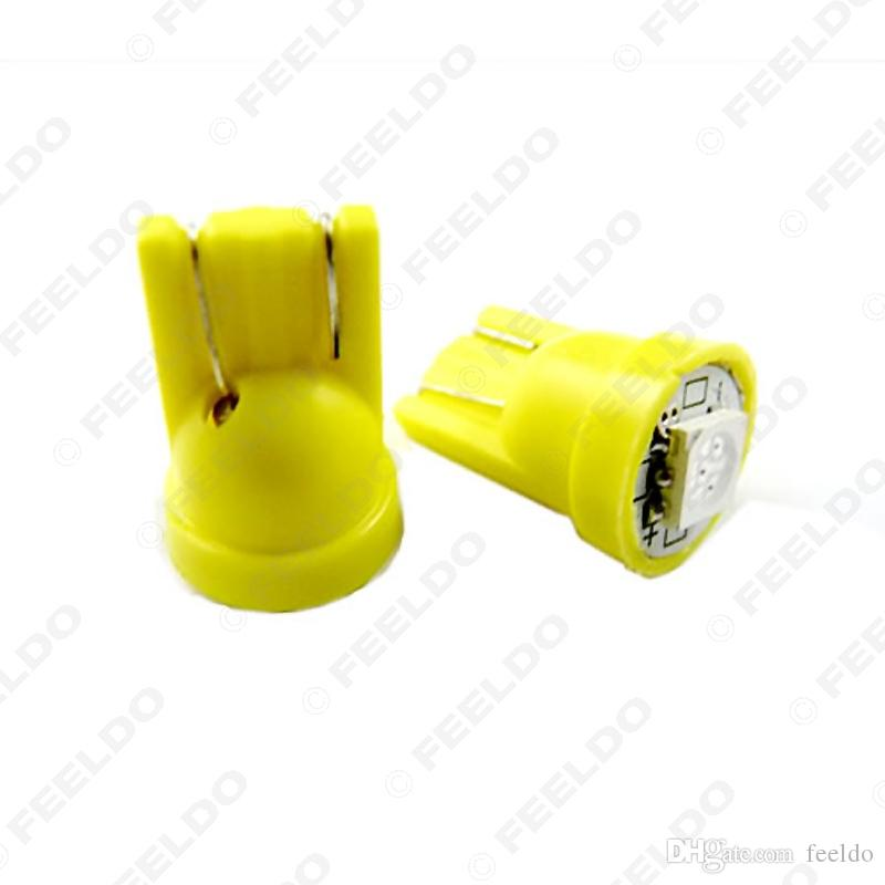 FEELDO DC12V Car 168 194 T10 5050 Chip 1SMD LED Wedge Base Car LED Light Bulbs 7-Color #1525