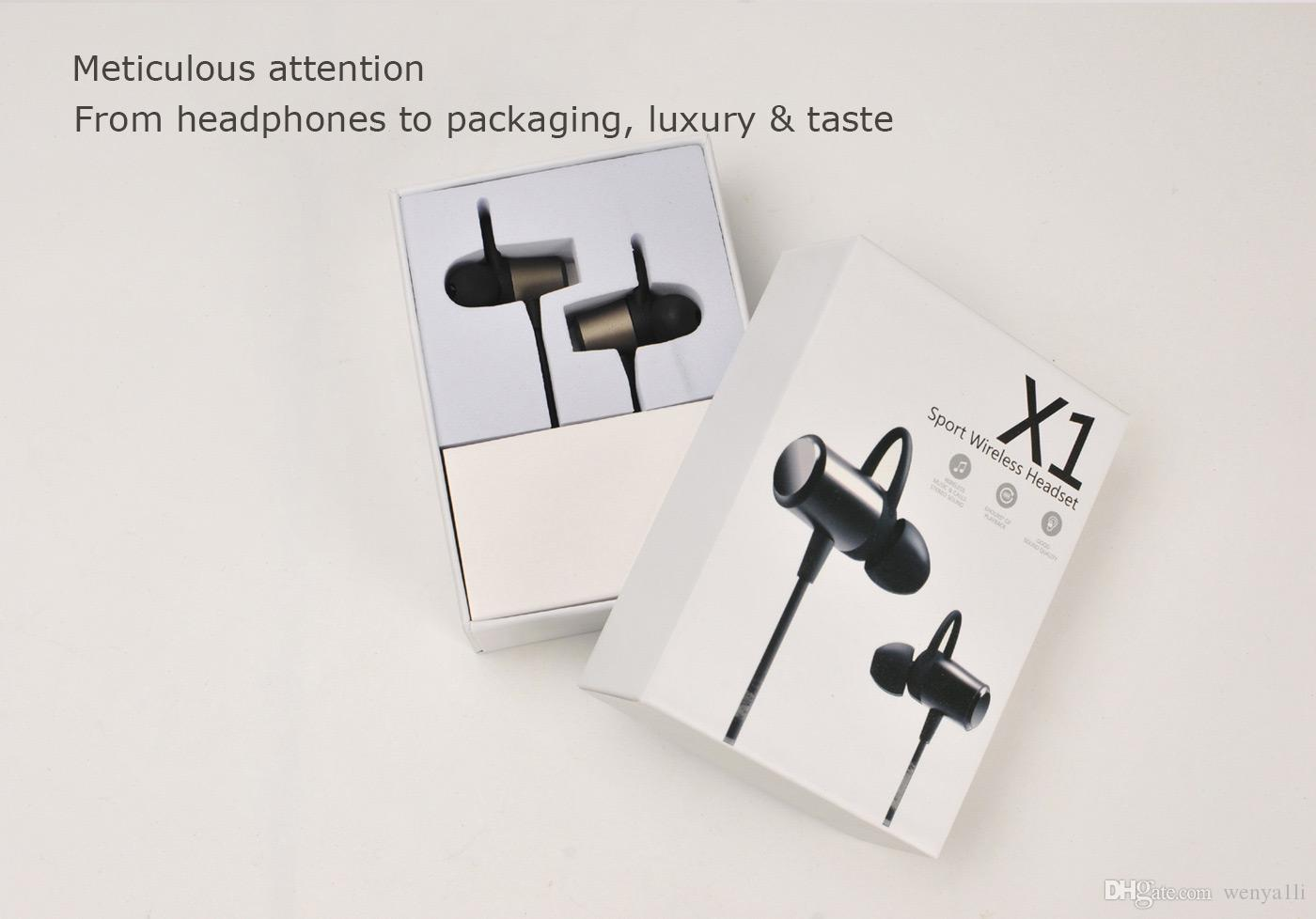 Hot X1 Bluetooth Earphone With Mic Wireless Headphone Sports Running Stereo Bluetooth Headset Magnet Earbuds For iPhone Xiaomi High fidelity