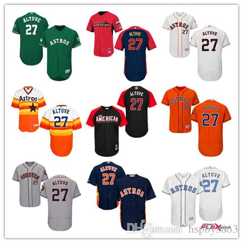 dee2cbce9 france base home jersey 2017 mens houston astros authentic jerseys cheap  mlb 27 jose altuve white