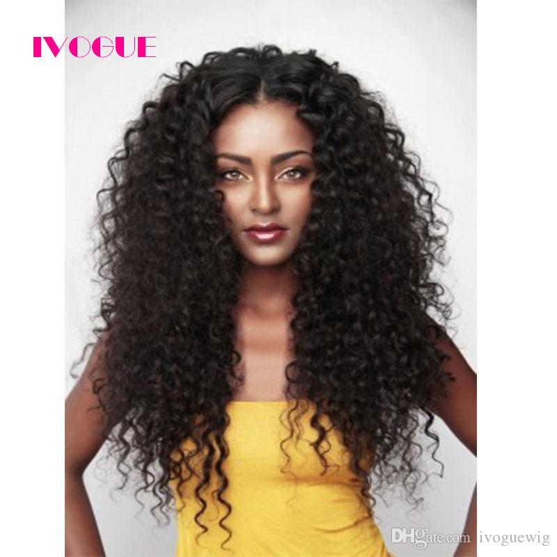 Loose Deep Wave Lace Front Wig Human Hair Glueless Wig Indian Remy U Part Human Hair Wigs Curly Upart Wig For Black Women