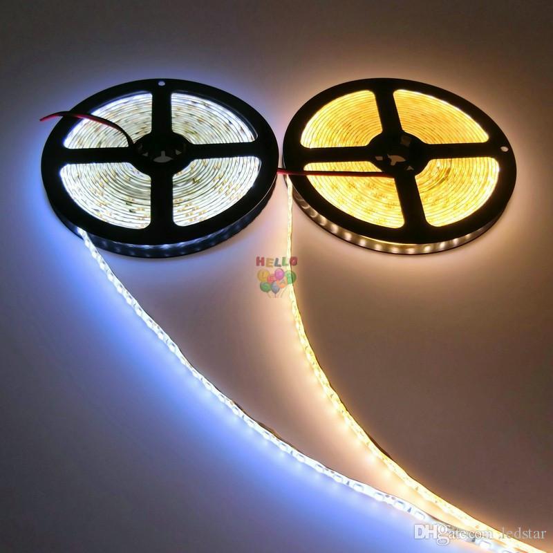 600LEDs 5m / rolls 2835 Led Strips Lights 12V Led Rope Lights Strips illuminazione Natale / KTV