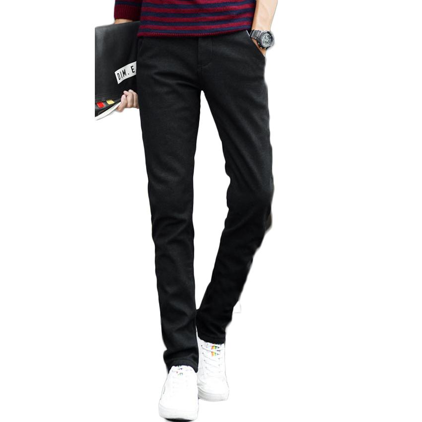9f34a68f Wholesale- 2017 luxury brand clothing men's business casual pants high  quality thick warm winter patch embroidered trousers men velvet