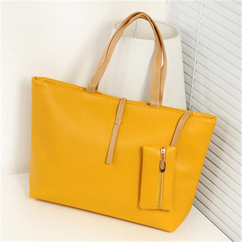 39d76106561 Buckle Simple Women Bag Vintage PU Leather Ladies Big Lady Bags Design  Messenger Shoulder Bags Shopping Handbag Designer Female Totes