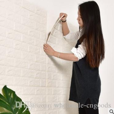 3D wall wallpaper anti-collision foam brick clothing store children room living room background wall DIY wallpaper