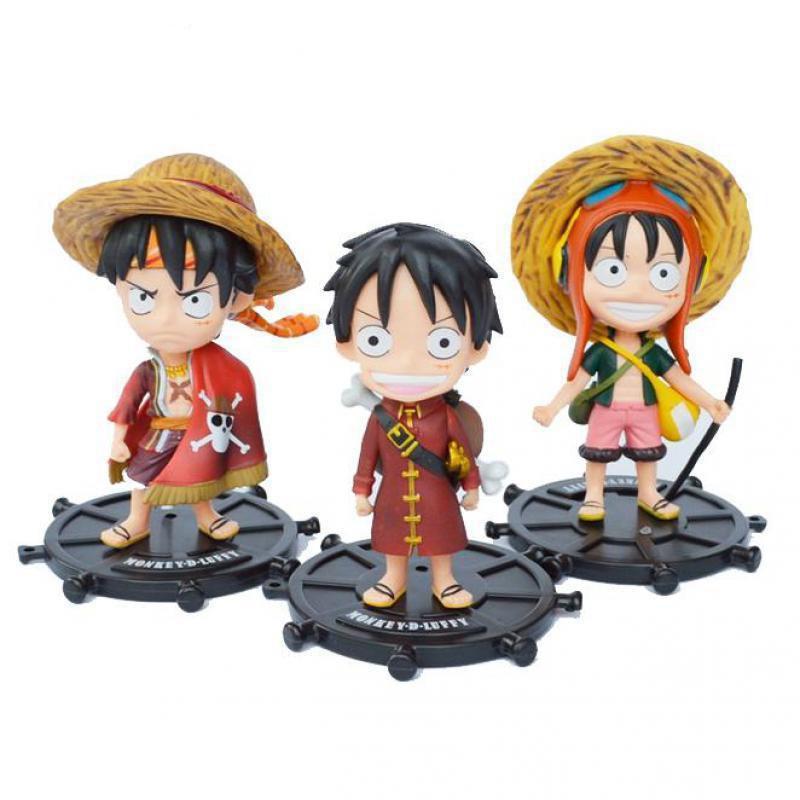 Compre Juguetes Anime One Piece Versión Q Vestido Rojo Sombrero De Paja  Luffy PVC Figura De Acción Juguetes   Set Envío Gratuito A  18.25 Del  Tomboy777 ... 1fa30a3429c