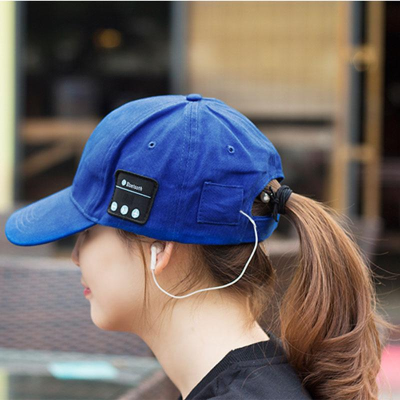 Wireless Bluetooth Sports Baseball Cap Canvas Smart Sun Hat Music Headphone Speaker Handsfree with Mic for Smart Phone