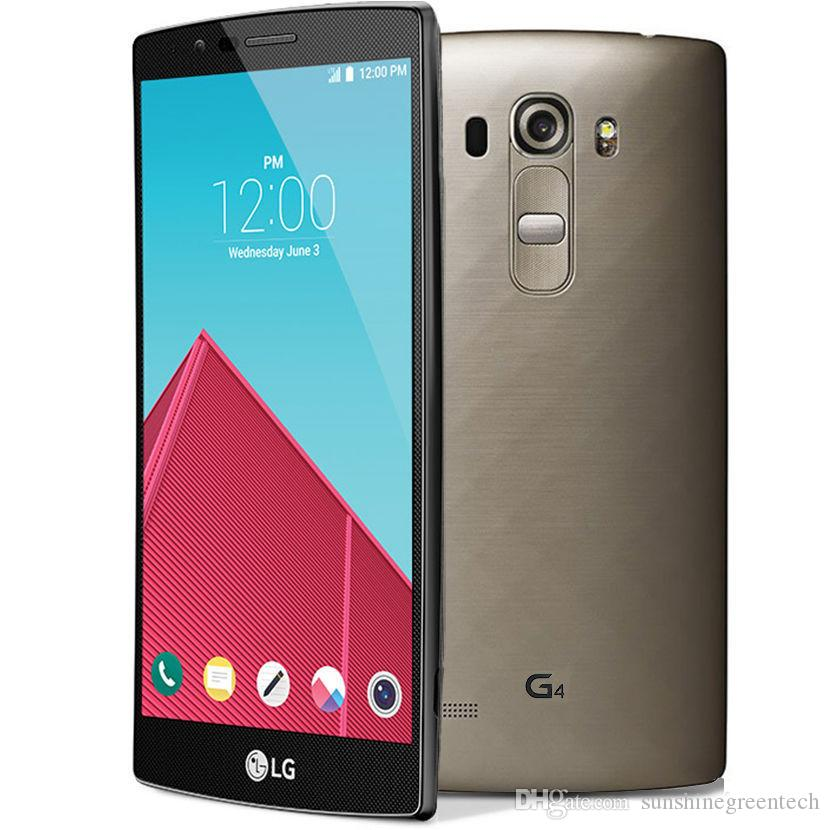 Yenilenmiş Telefonlar LG G4 H810 H815 H818 Siyah deri Unlocked Telefon 5.5 inç 3 GB RAM 32 GB ROM 16MP Cep Telefonu