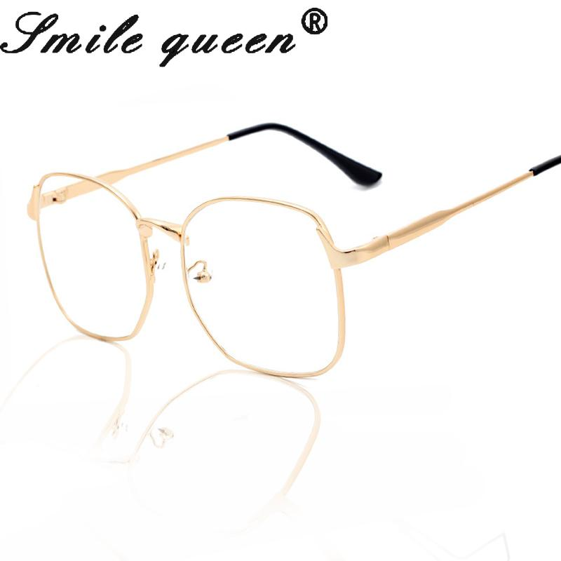 6fafda677cc 2019 Wholesale Fashion Square Glasses Frame Luxury Gold Metal Eyewear Frames  Big Computer Glasses Women Optical Frames Brand Oculos De Grau From  Value222