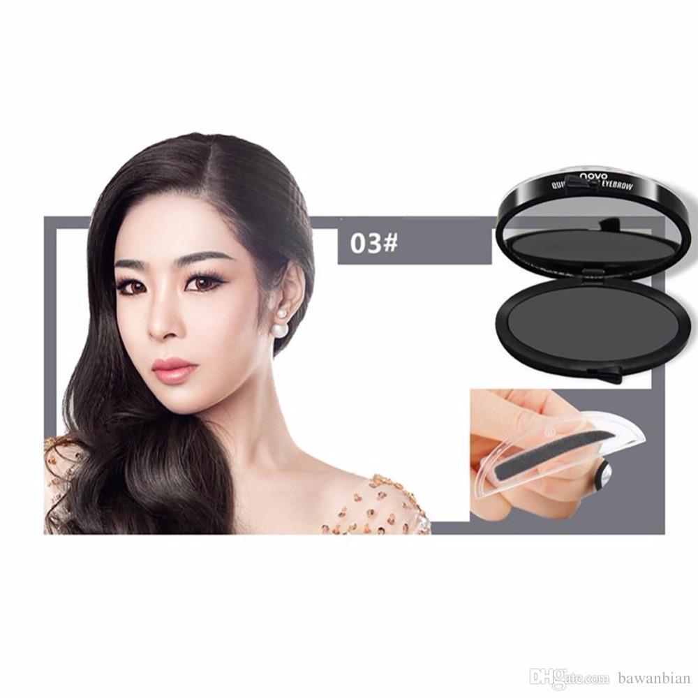 Neueste 3-farbe Schnelle Make-up Augenbraue-Stempel Augenbraue-Seal-Mode-Komfort-Augenbraue