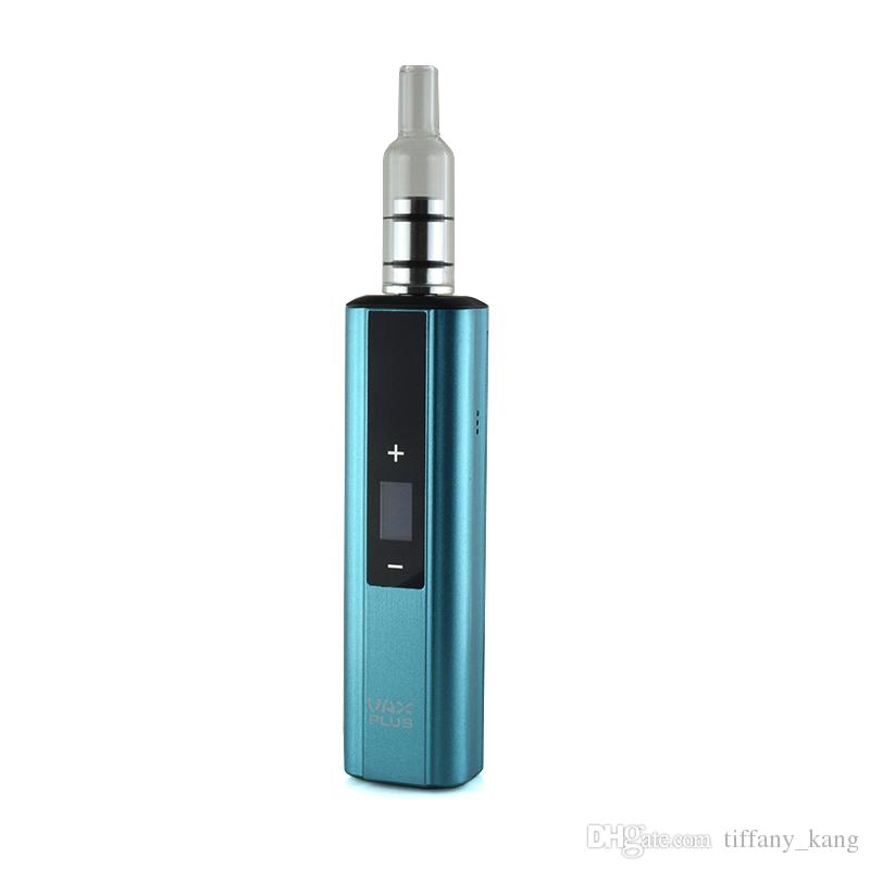 Original VAX PLUS Dry Herb Vaporizer Ego Cigarette Vape Pen 3000mah Mod Vax Starter Kit with 2types glass water mouthpiece DHL Free