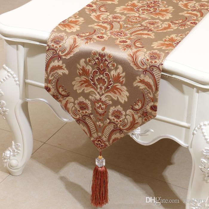 Europe style Embossed Jacquard Rustic Table Runner American style High End Coffee Table Cloth Rectangle Fashion Dining Table Mats 200x33 cm