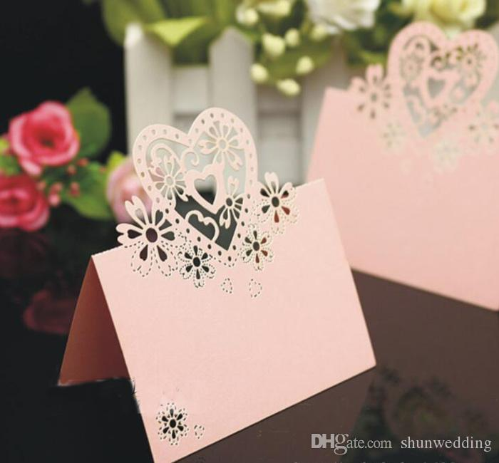 Laser Cut Place Cards Wedding Name Cards Guest Name Place Card Wedding Party Table Decoration wedding decoration