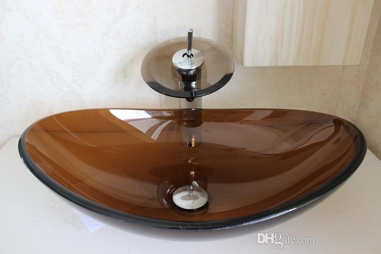 Glass Bowl Sinks Glass Sink Basin Tempered Glass Basin Brown Color ...