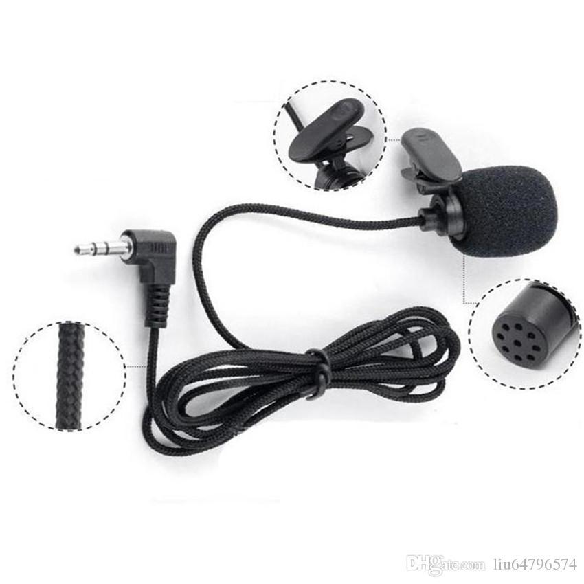 3.5mm Jack Mini Cravate Clip-Sur Revers Lavalier Filaire Double Voie Microphone Mikrafone mikrofon Pour SmartPhones PC Caméra