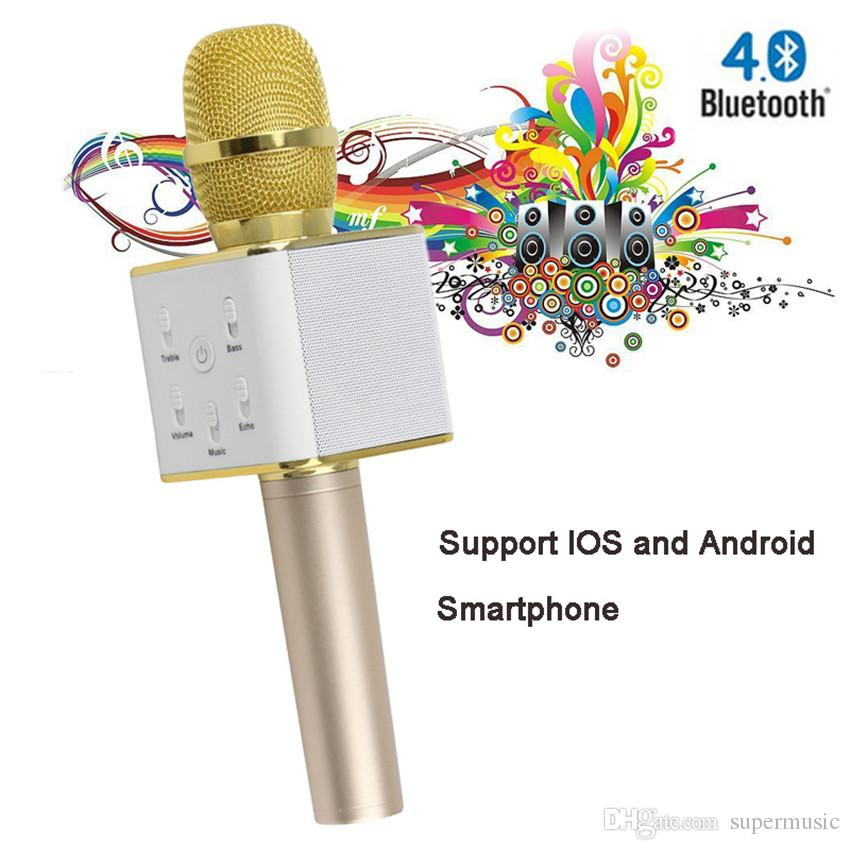 iphone karaoke microphone mini q7 karaoke microphone player wireless bluetooth 11970