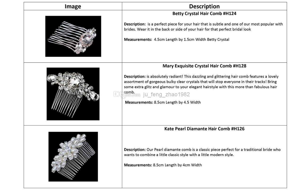 Variety of styles Bride's Comb Hair Accessories Rhinestone Crystal Pearls Tiaras 2014 New Fashion Wedding Jewelry Prom Party Evening Pageant