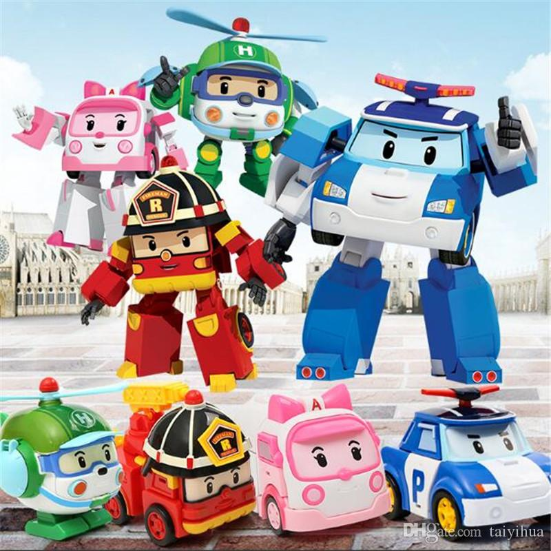 2018 big size children cartoon police car robocar poli - Robot car polly ...