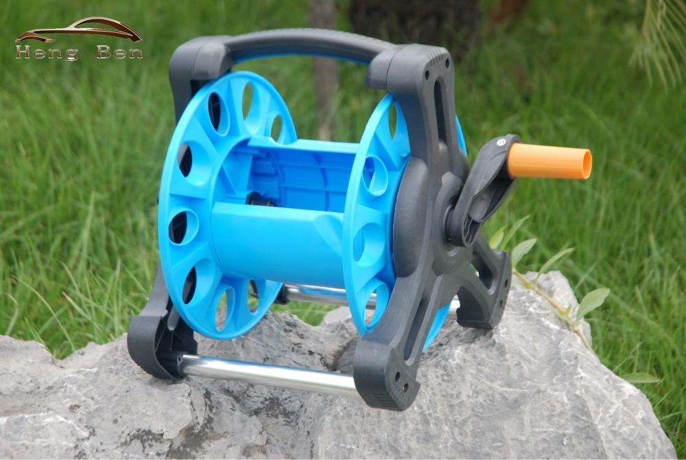 2018 Wholesale Hb Garden Water Hose Reel Cart Pipe Rack Portable Garden Hose Car From Atuomoto $36.94 | Dhgate.Com & 2018 Wholesale Hb Garden Water Hose Reel Cart Pipe Rack Portable ...