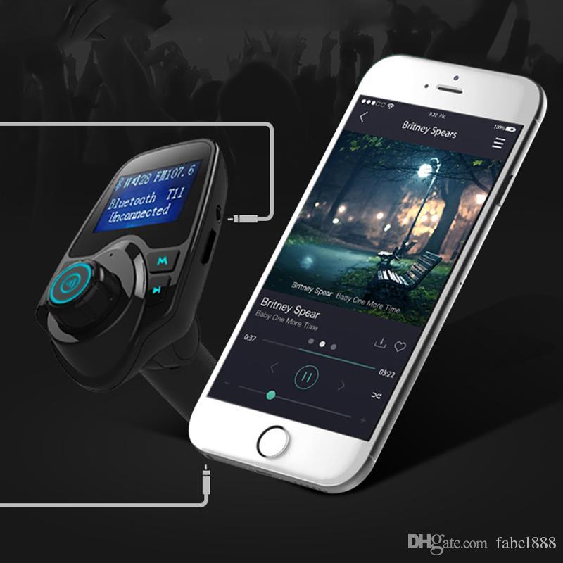 2016 Çin En İyi Satış Bluetooth Direksiyon ile Hands Free Araç Kiti mp3 çalar fm verici Bluetooth Handsfree Kiti