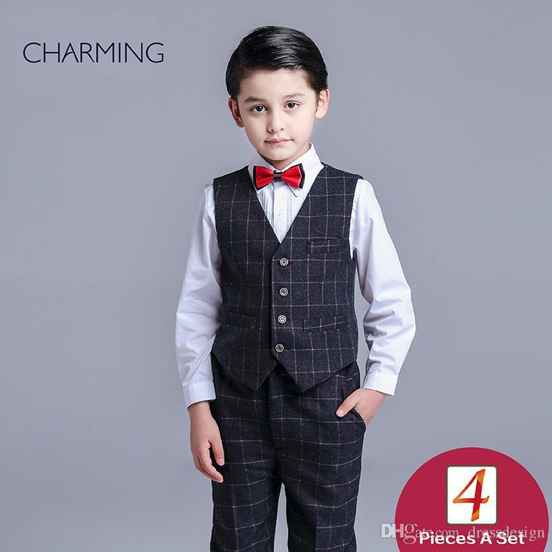 eb0e87580380 Brand New Boys Dress Vest And Pants Sets Boys Suit High Quality Fabrics  Designer Suits For Kids From China Suppliers Formal Wear Pants Formal Wear  Shirts ...