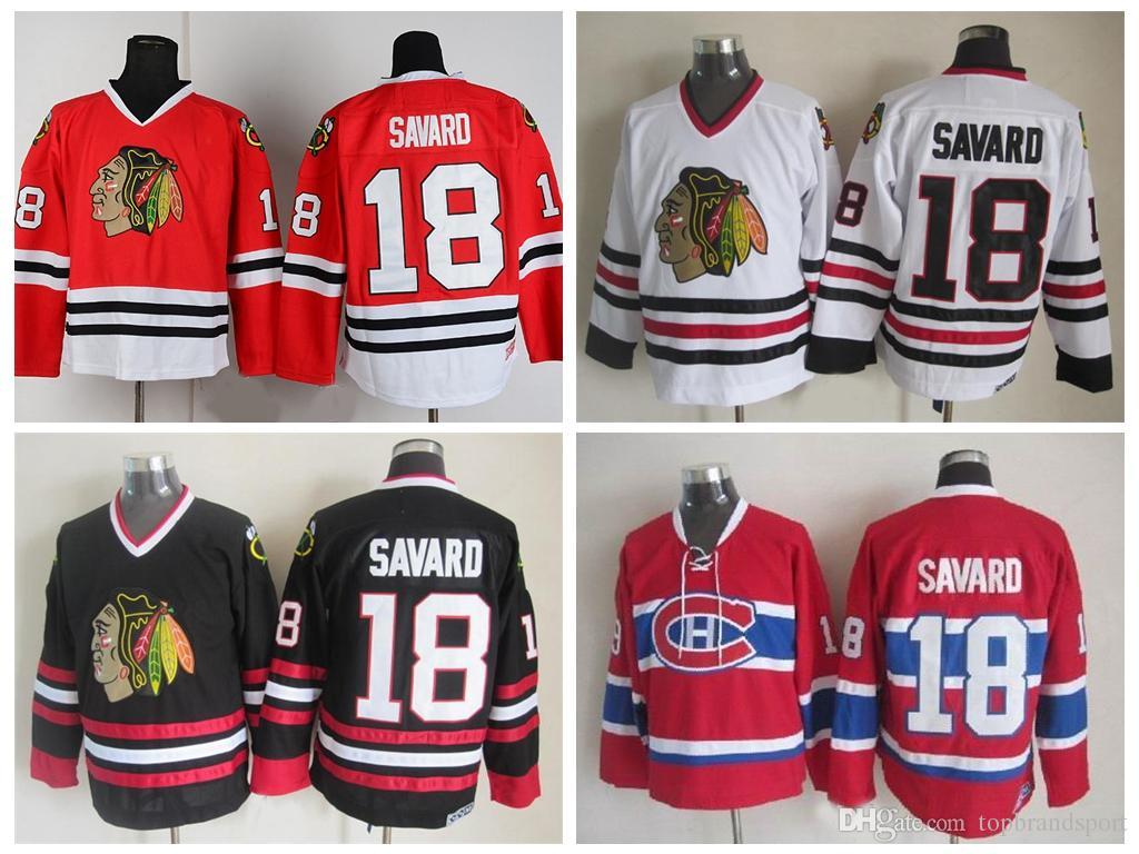 819d451fcde ... black 1917 aca13 7ad89; usa mens jersey nhl 2017 throwback denis savard  jersey 18 chicago blackhawks hockey jerseys vintage ccm