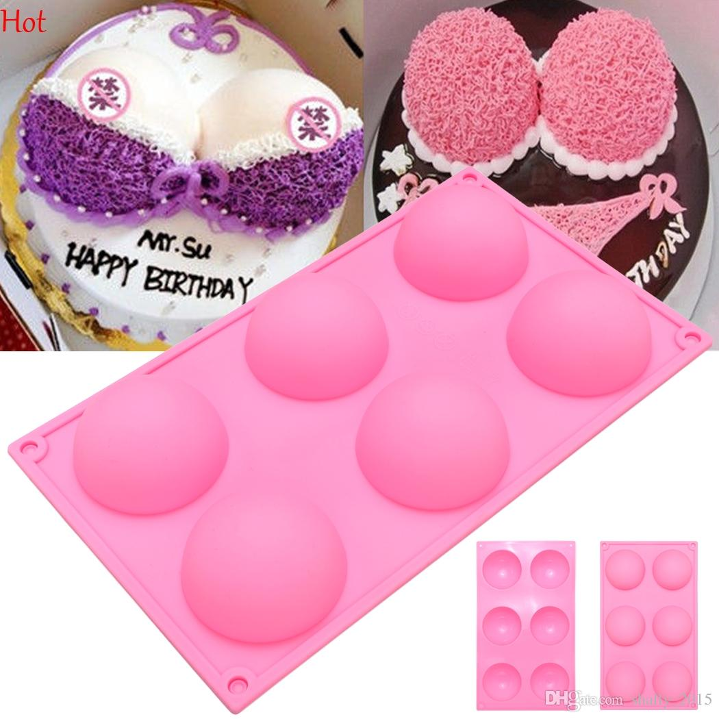 6 Half Ball Round Shape Silicone Cake Mold Diy Chocolate Soap Molds Sugar Craft Cake Decorating