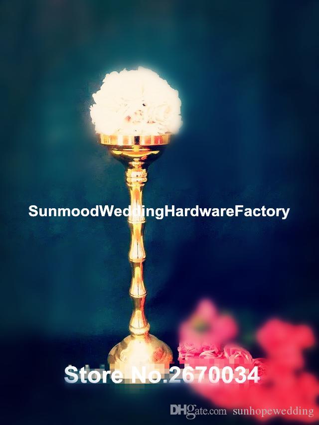 Şerit / altın / siyah / beyaz demir trompet Centerpiece için Çiçek Vazo / parti düğün dekorasyon