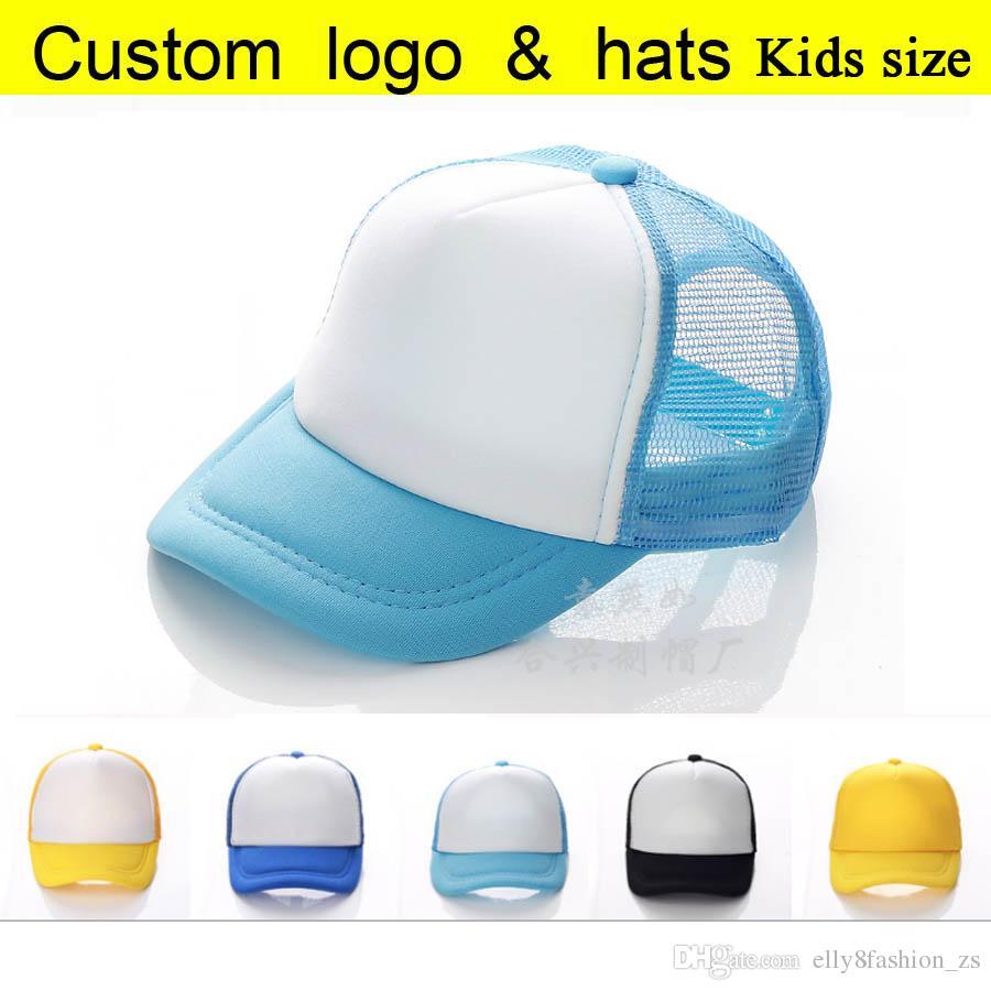 00705349ef9 Wholesale Cheaper Trucker Cap Child Summer Children Net Candy Color Baseball  Hats Boys Mesh Sun Caps Kids Hats Casual Girl Hat Peaked Flat Brim Hats  Baby ...
