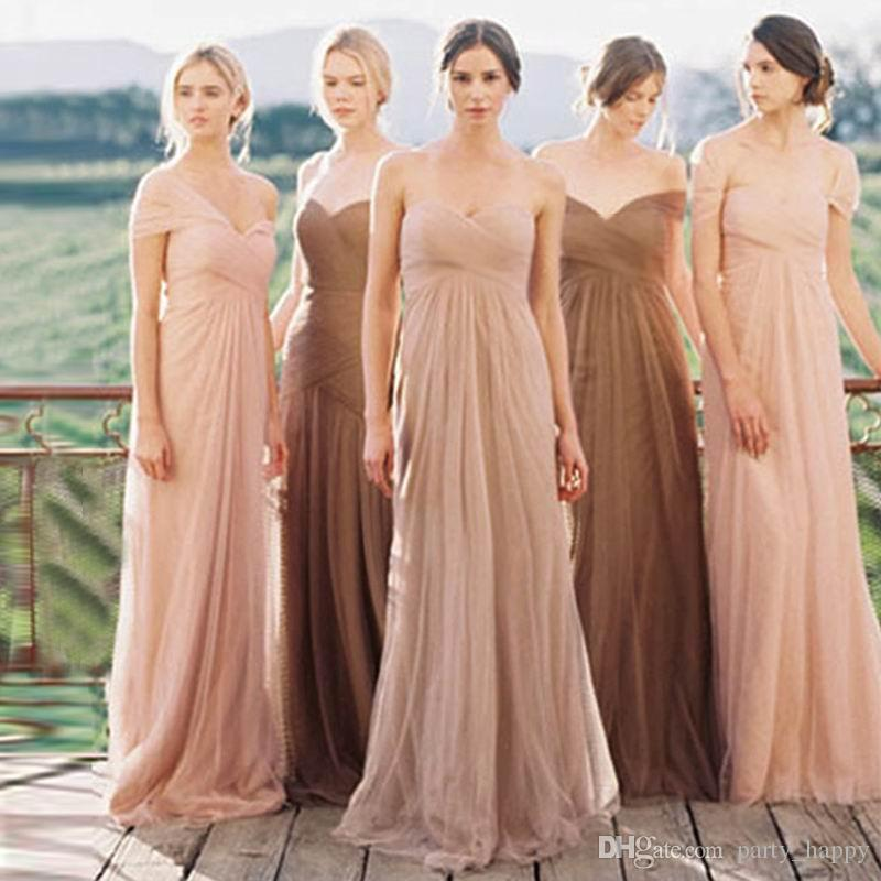 5ffb3d5dd156e Bridesmaids Dresses Long Chiffon Lace Evening Formal Party Ball Gown ...