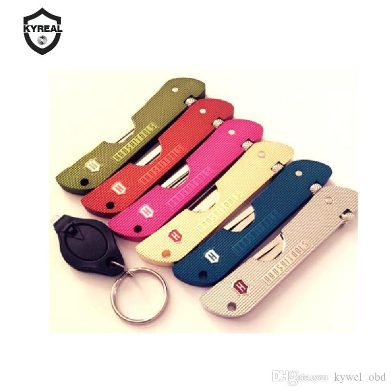 أدوات الأقفال أدوات haoshi أضعاف قفل اختيار مع 7 ألوان للاختيار أدوات قفل قفل قفل jackknife جاك سكين قفل اللقطات شحن مجاني