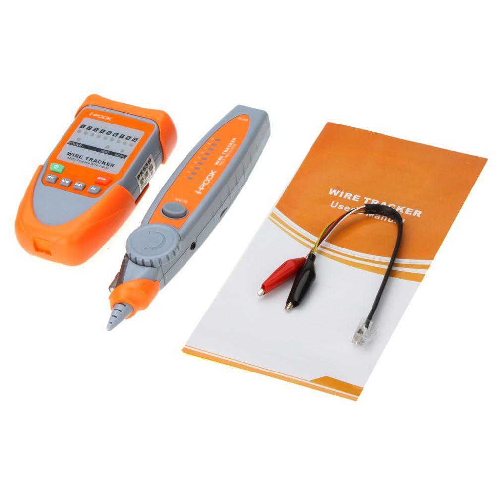 Freeshipping i-POOK Çok Amaçlı Tel Tracker Kablo Test Cihazı w / Ayarlanabilir Hassasiyet