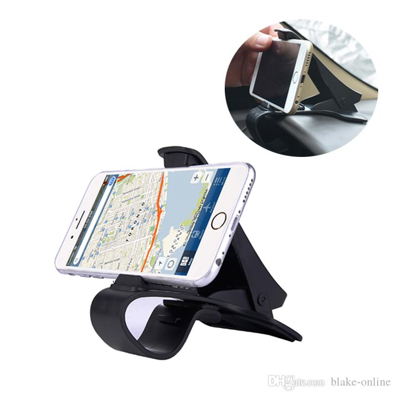 Universal Auto Dashboard GPS Navigation Holder Adjustable Cell Phone Car Magnet Holder Clip Stand Bracket for iphone Samsung Smartphone