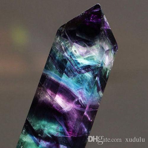 о 50-60G натуральный флюорит кварц Кристалл палочка точка исцеления